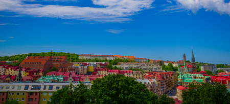 gothenburg: Beautiful panorama view of  Gothenburg city downtown on a summer day Stock Photo
