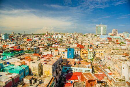 capital building: Panorama of Havana city Vedado District, aerial view Stock Photo