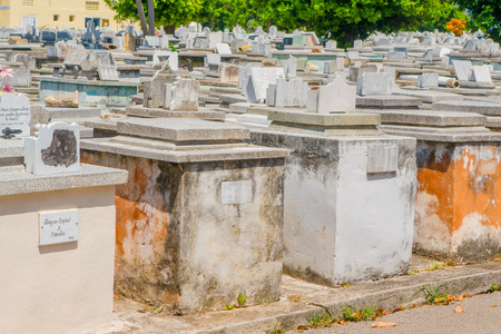cristobal: HAVANA, CUBA - SEPTEMBER 1, 2015:The Colon Cemetery, or more fully in the Spanish language Cementerio de Cristobal Colon, was founded in 1876 in the Vedado neighbourhood of Havana