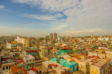 capitolio: Panorama of Havana city Vedado District Stock Photo