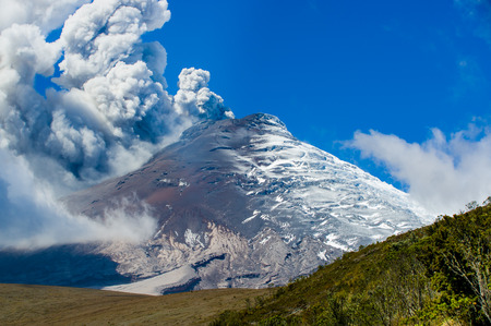 splendid: Splendid Cotopaxi volcano erupting in Ecuador, South America Stock Photo