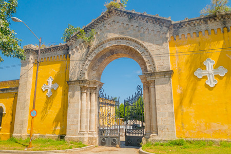 HAVANA, CUBA - SEPTEMBER 1, 2015:The Colon Cemetery, or more fully in the Spanish language Cementerio de Cristobal Colon, was founded in 1876 in the Vedado neighbourhood of Havana