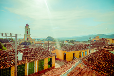 TRINIDAD, CUBA - SEPTEMBER 8, 2015: The Cuban city of Trinidad is one of the countrys most charming locations.