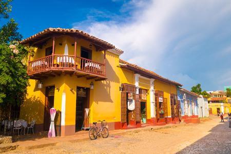 TRINIDAD, CUBA - 8 SEPTEMBER 2015: de stad is een perfecte bewaarde Spaanse koloniale nederzetting. Redactioneel