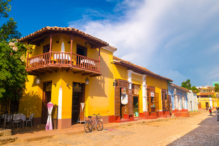 TRINIDAD, CUBA - SEPTEMBER 8, 2015: the city is a perfectly preserved Spanish colonial settlement.