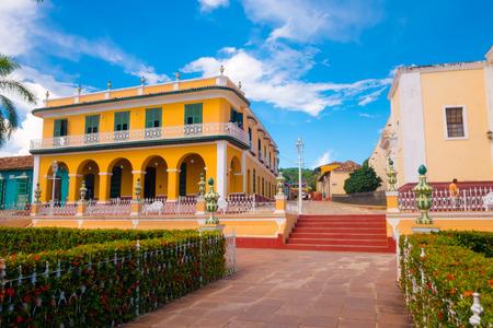 case colorate: Trinidad, Cuba - 8 Settembre 2015: La città cubana di Trinidad è uno dei luoghi più affascinanti countrys
