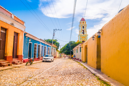 designated: TRINIDAD, CUBA - SEPTEMBER 8, 2015: It was built at the beginning of the 1800s, and was designated a World Heritage Site by UNESCO in 1988.
