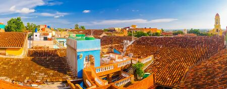 designated: TRINIDAD, CUBA - SEPTEMBER 8, 2015: Panorama,  was designated a World Heritage Site by UNESCO in 1988.