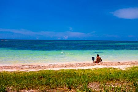 pinar: Cayo Jutias beach in the northern seaside of Cuba Stock Photo