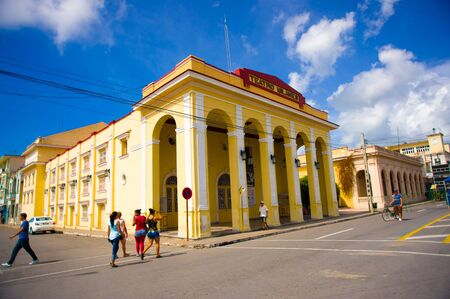 pinar: PINAR DEL RIO, CUBA - SEPTEMBER 10, 2015: Downtown of the city, it is famous his Neoclassical buildings.