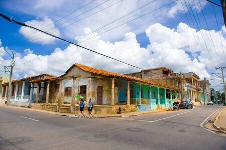 pinar: PINAR DEL RIO, CUBA - SEPTEMBER 10, 2015: Downtown of Pinar del Rio City, is the setting off point for some of the worlds top tobacco plantations. Editorial