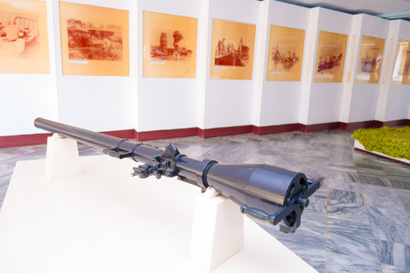 aggressor: PLAYA GIRON, CUBA - SEPTEMBER 9, 2015: Museum shows the curious story of the world famous landing of the Bay of Pigs.