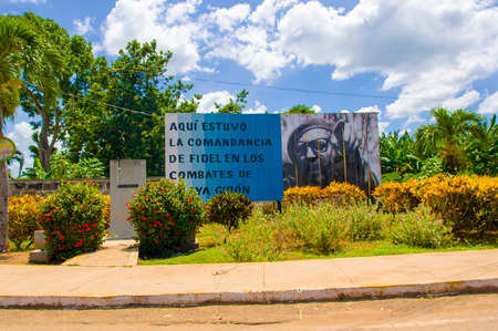 propaganda: BAY OF PIGS, CUBA - SEPTEMBER 9, 2015: Revolucion propaganda billboard posted by the goverment. Editorial