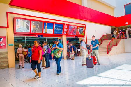 concourse: HAVANA - FEBRUARY 27: Tourists wait for their flights on February 27, 2011 in Havana Airport, Cuba. Havanas Jose Marti International Airport accounts for 80% of Cubas international passengers.