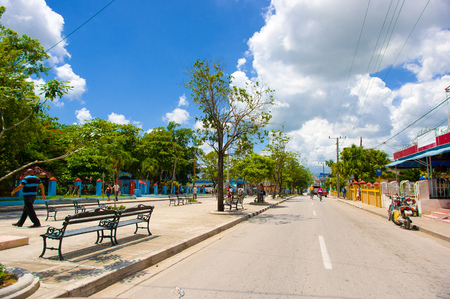settlements: SANCTI SPIRITUS, CUBA - SEPTEMBER 5, 2015: Sancti Spiritus is a municipality and capital city of the province of Sancti Spiritus in central Cuba. Sancti Spiritus, Latin for Holy Spirit. It is one of the oldest Cuban European settlements.