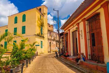 old town: Camaguey, Cuba, old town listed Stock Photo