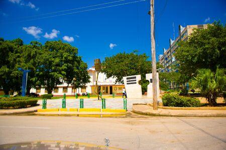 capitolio: CIEGO DE AVILA, CUBA - SEPTEMBER 5, 2015: Downtown of Ciego de Avila. Located in the central part of Cuba is the capital of Ciego de Avila Province. The city has a population of about 86,100. Editorial