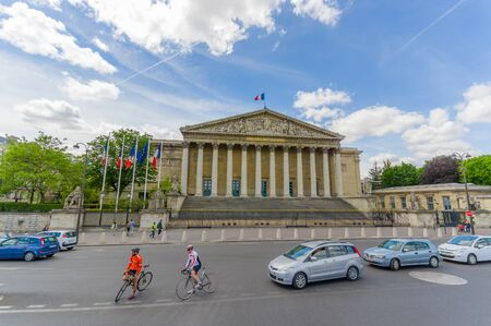 nationale: PARIS, FRANCE - JUNE 1, 2015: Palais Bourbon, Assemblee Nationale.  Bourbon Palace, seat to the French National Assembly Editorial