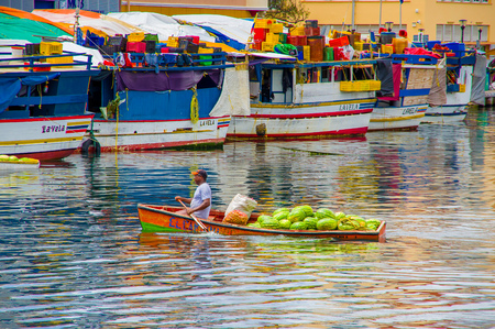 2 november: WILLEMSTAD, CURACAO - NOVEMBER 2, 2015 - floating fish market, Curacao, Caribbean Editorial