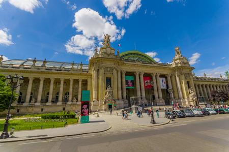 exhibition complex: PARIS, FRANCE - JUNE 1, 2015: Grand Palais des Champs Elysees, historic site, exhibition hall and museum complex Editorial