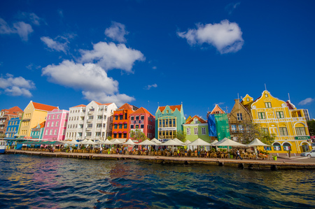 View of downtown Willemstad. Curacao, Netherlands Antilles Zdjęcie Seryjne - 49832641