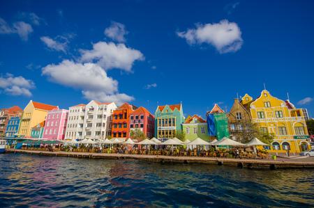 Weergave van het centrum van Willemstad. Curacao, Nederlandse Antillen Stockfoto