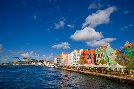antilles: View of downtown Willemstad. Curacao, Netherlands Antilles