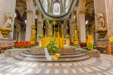 Interior of the Church of Saint-Sulpice, Paris, France