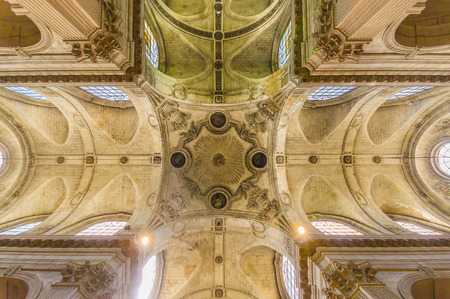 Detail of the ceiling arquitecture and design in the Church of Saint-Sulpice, Paris, France