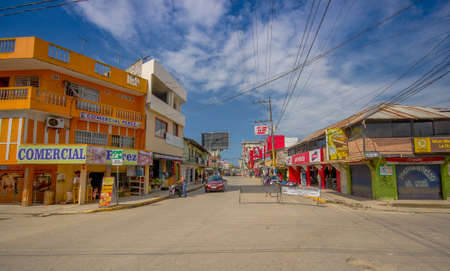 tremor: ATACAMES, ECUADOR - March 16, 2016:  Steet view of beach town located on Ecuadors Northern Pacific coast. It is located in the province of Esmeraldas.