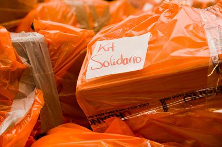 fema: Quito, Ecuador - April 23, 2016: Disaster relief food, clothes, medicine and water for earthquake survivors in the coast. Gathered at Bicentenario Park. Editorial