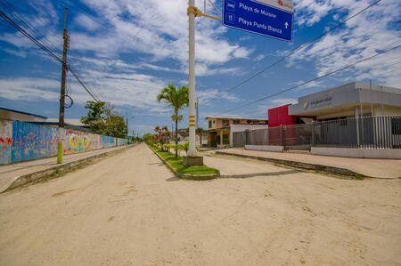 ecuadorian: Muisne, Ecuador - March 16, 2016: Downtown Muisne city, small charming town located in the northern Ecuadorian coastline.