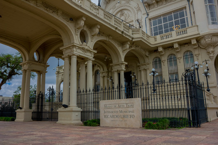 tigre: TIGRE, ARGENTINA - MAY 02, 2016: awsome view of the main entrance of the art museum of tigre, a casino operated there until 1933. Editorial