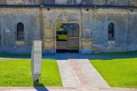 CURITIBA ,BRAZIL - MAY 12, 2016: entrance of the paiol theater, builded in 1874 it was originally built as military fort. Editorial