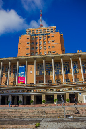 local government: MONTEVIDEO, URUGUAY - MAY 04, 2016: the city hall is the seat of the local government in montevideo.