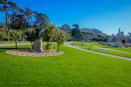 Beautiful Golden Gate Park in San Francisco, the fifth most visited city park in the United States Stock Photo