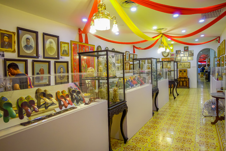 George Town, Malaysia - March 10, 2017: Pinang Peranakan Mansion, is a museum containing antiques and showcasing Peranakans customs, interior design and lifestyles. Editorial