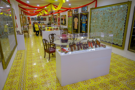 antiques: George Town, Malaysia - March 10, 2017: Pinang Peranakan Mansion, is a museum containing antiques and showcasing Peranakans customs, interior design and lifestyles. Editorial