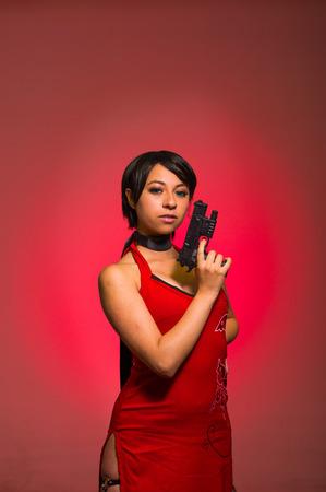 Powerful Woman with a gun, ada wong cosplay