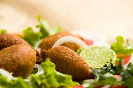 Delicious turkish ramadan Food icli kofte meatball falafel