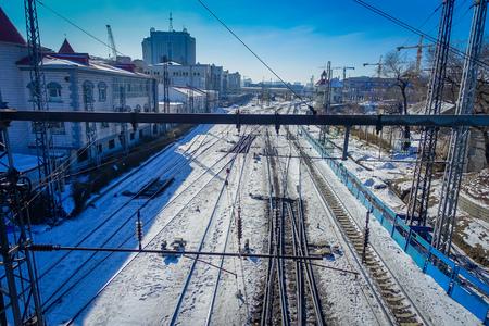 Railway in Harbin, China