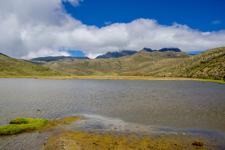 astonishing: Astonishing Limpiopungo lake, in the National Park Cotopaxi Stock Photo