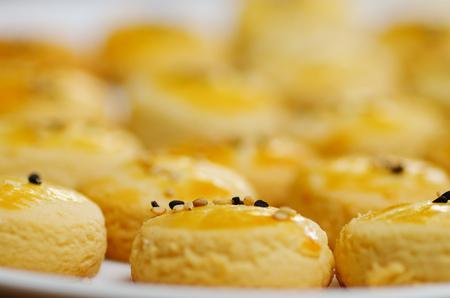 Close up of a delicious Turkish cookies, tuzlu kurabiye
