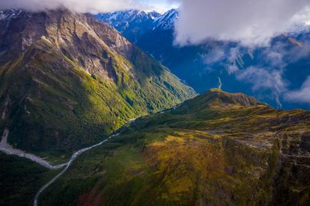 Beautiful landscape of Franz Josef Glacier National Park, in New Zealand