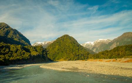 fox glacier: Beautiful landscape of Franz Josef Glacier National Park, in New Zealand