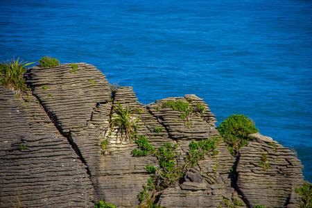 Beautiful view of pancake rocks in Punakaiki, South island, in New Zealand
