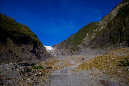 molly: Franz Josef Glacier and valley floor, Westland, South Island, New Zealand