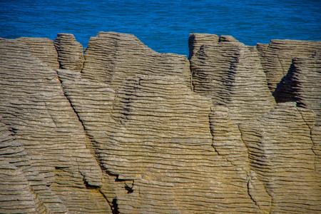 geological formation: Beautiful view of pancake rocks in Punakaiki, South island, in New Zealand