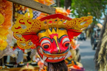 daemon: BALI, INDONESIA - MARCH 08, 2017: Impresive hand made structure, Ogoh-ogoh statue built for the Ngrupuk parade, which takes place on the even of Nyepi day in Bali, Indonesia. A Hindu holiday marked by a day of silence