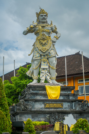 BALI, INDONESIA - MARCH 08, 2017: Stone statue of Vishnu in Gunung Kawi, Bali, Indonesia Stock Photo